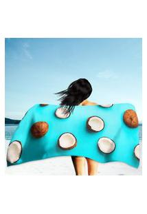 Toalha De Praia / Banho Coconuts On Blue Único