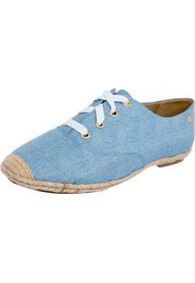 Tênis Espadrilhe Jeans Petite Jolie Azul