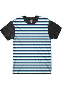 Camiseta Long Beach Náutica Listras Sublimada Masculina - Masculino
