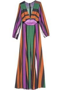 Vestido Listra Degradee Eva - Feminino