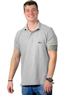 62c4e509ea ... Camisa Polo Fishbone Perplex Cinza