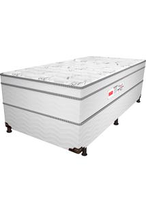 Cama Box Solteiro Bleach Euro - Pelmex - Branco / Preto