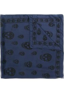 R  2006,00. Farfetch Echarpe Hecol Móveis Alexander Mcqueen Caveira Azul ... d6b2a6c447a