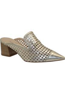 Sapato Stéphanie Classic Vazado Dourado