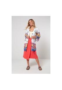 Jaquetas E Casacos Oh, Boy! Kimono Off-White