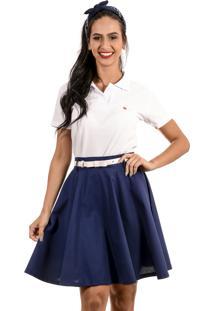 Camisa Polo Cherry Pie Logo Branca