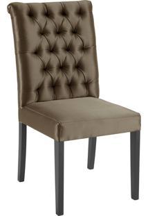 Cadeira Eli 1102 Com Capitone Dourado Daf Marrom - Marrom - Dafiti