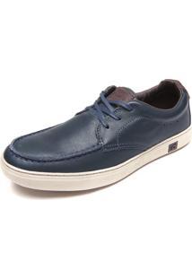 Sapato Couro Kildare Cadarço Azul-Marinho