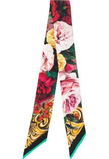Dolce & Gabbana Lenço Slim Com Estampa Floral - Rosa