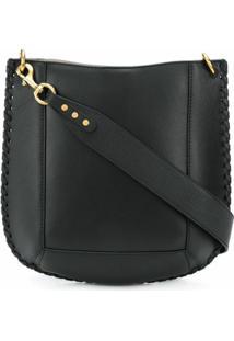 Isabel Marant Oskan Leather Shoulder Bag - Preto