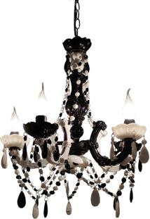 Lustre Black And White Exclusivo 40Cm Trevisan Concept