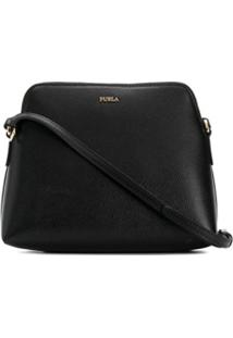 Furla Textured Shoulder Bag - Preto