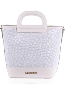 Bucket Bag Campezzo Couro Verniz Off White Lassie