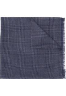 Dell'Oglio Cachecol Glen Xadrez - Azul