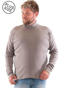 Camiseta Konciny Gola Alta Plus Size Cinza