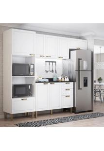 Cozinha Completa 5 Peã§As Americana Multimã³Veis 5698 Branco - Branco/Incolor - Dafiti