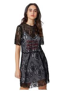 Vestido Renda Silk Freedom Preto