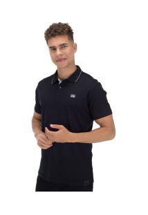 Camisa Polo Fatal Estampada 22266 - Masculina - Preto
