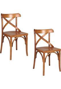 Kit 2 Cadeiras Decorativas Gran Belo Crift Carvalho Escovado
