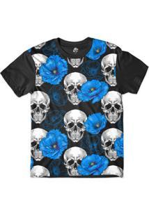 Camiseta Bsc Caveira Lírio Sublimada Masculina - Masculino