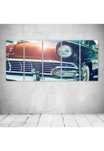 Quadro Decorativo - Vintage Car Headlight - Composto De 5 Quadros - Multicolorido - Dafiti