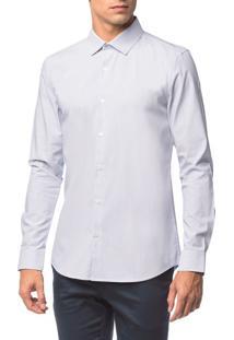 Camisa Slim Geneva Maquinetado - Branco 2 - 4