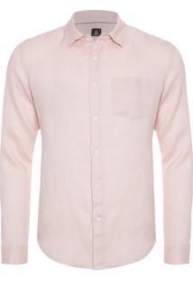Camisa Masculina Classic Linen - Rosa