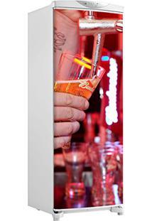 Adesivo Geladeira Envelopamento Porta Chopeira Budweiser - Até 1,50X0,60 M