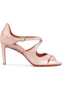 Santoni Sandália Com Tiras Cruzadas - Rosa