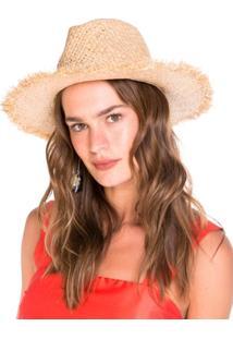 Chapéu Amaro De Palha Com Pompom - Feminino