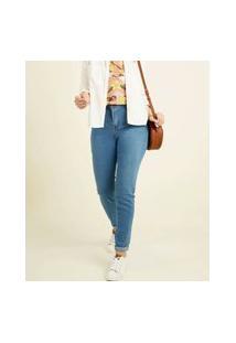 Calça Feminina Skinny Bolsos Uber Jeans