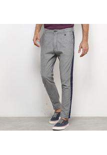 Calça Jeans Skinny Forum Listra Lateral Masculina - Masculino-Azul