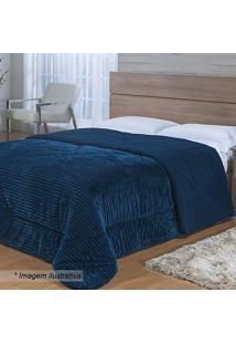 Edredom Toscana Queen Size- Azul Escuro- 220X240Cm
