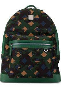 Mcm Zipped Tri-Colour Backpack - Verde