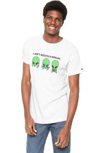 Camiseta Fiveblu Manga Curta I Don'T Belive Branca