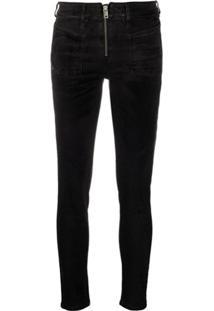 Diesel Calça Jeans Skinny Cintura Média - Preto