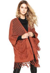 Kimono Colcci Tricot Marrom