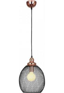 Pendente De Metal Copper Bella Iluminação Cobre