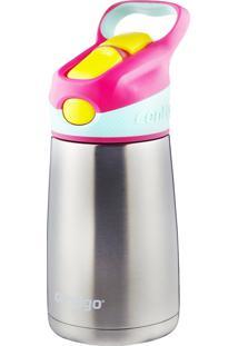 Garrafa Térmica 295 Ml Contigo Striker Chill Rosa Com Bico E Canudo Retrátil