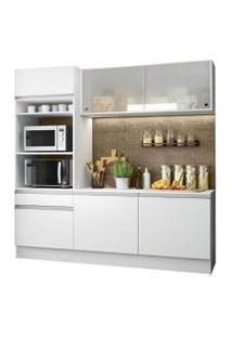 Cozinha Compacta Madesa Topazio Com Balcão E Tampo Branco