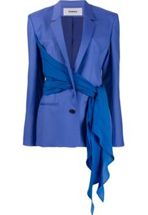 Chalayan Blazer Com Transpasse - Azul