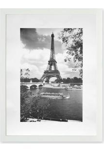 Quadro Torre Eiffel Kapos Branco 43X33Cm