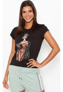Camiseta Croqui- Preta & Vermelhaclub Polo Collection