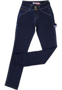 a45989106 ... Calça Jeans Carpinteira Rodeo Western Feminina - Feminino-Azul Escuro
