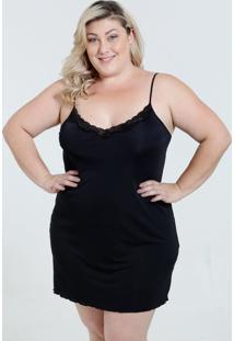 Camisola Feminina Plus Size Renda Marisa