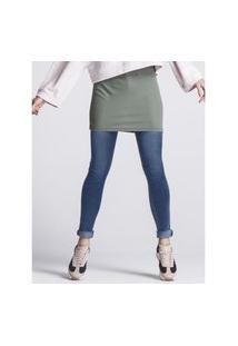 Calça Khelf Calça Jeans Feminina Cintura Alta Skinny Azul