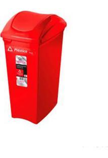 Lixeira Seletiva 40 Litros Vermelha Sanremo