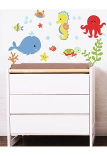 Adesivo Decorativo Stixx Kit Fundo Do Mar Menino Azul