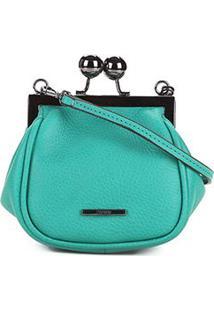 Bolsa Couro Carmim Mini Bag Fátima Feminina - Feminino-Verde