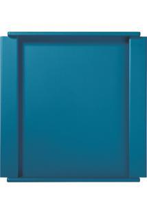Bandeja Quadrada Turquesa - Cor Azul